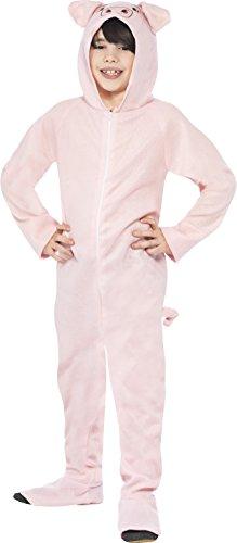 Smiffys Kinder Unisex Schweine Kostüm, All-in-One mit Kapuze, Größe: M, 27992