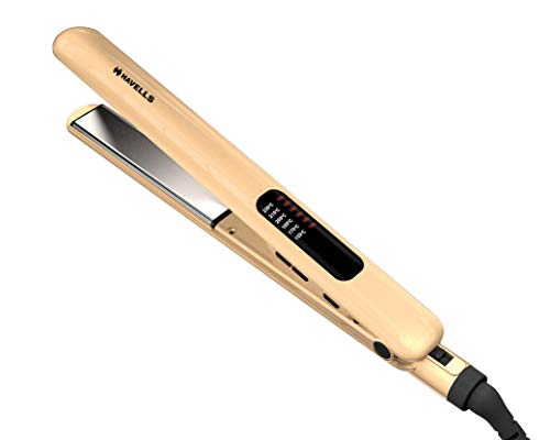 Havells HS4152 Hair Straightener with Titanium Coated Plates (Golden)