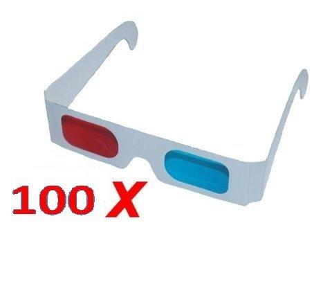 100X 3d gafas grande Paquete de cartón Gafas Anaglifo rojo/cyan de RBrothersTechnologie