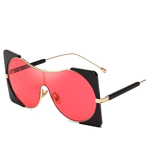 ZRTYJ Sonnenbrillen Übergroße Quadratische Rahmen-Sonnenbrille-Mann-Frauen-Marken-Design-Retro- Art- Und Weiserunde Gläser Siamesische Linse