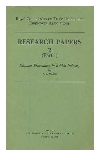 Disputes procedures in British industry
