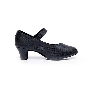 XIAMUO Women's Dance Schuhe Kunstleder Kunstleder Latin/Salsa Sandalen Ferse Professional/Innen Silber
