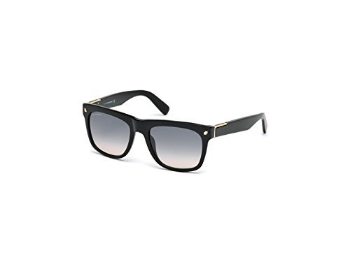 dsquared damen DSQUARED Unisex-Erwachsene Sonnenbrille DQ0212 01B 54, Schwarz (Nero Lucido/Fumo Grad)