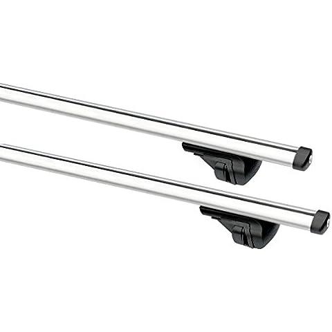 XtremeAuto Baca universal de aluminio, barras de raíles 1,35m Sistema de Bloqueo antirrobo.