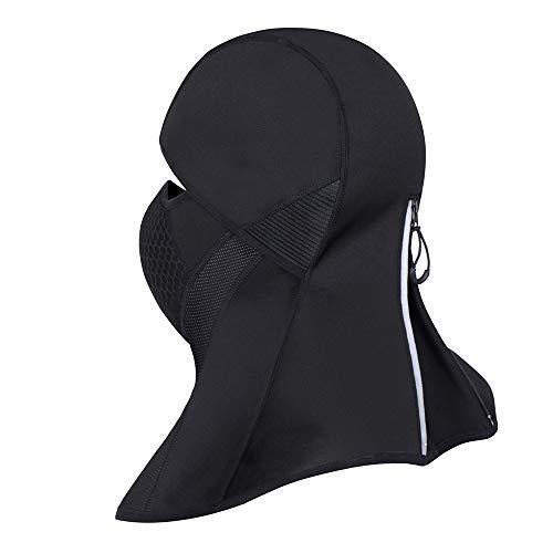 Máscara de montar a prueba de viento, máscara de protección completa de la protección ULTRAVIOLETA, cubierta de la cabeza táctica de la máscara respirable, para esquiar de los deportes al aire libre (con cremallera)