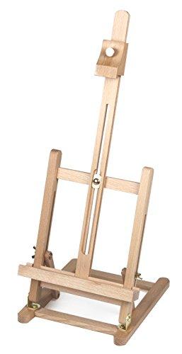 Paintersisters-Neuss TISCHSTAFFELEI T-40 aus Buche FSC für Keilrahmen bis 40 cm, Sitzstaffelei, Malhöhe und Neigungswinkel Verstellbar