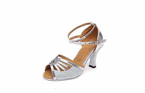 Sandali ballo casual grigi con punta aperta con stringhe per donna noLPuZ