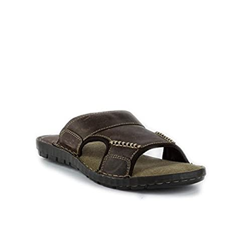 Red Tape Mens Brown Leather Mule Sandal - Size 9 - Brown