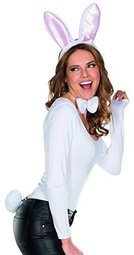 Rubie's Häschen Set 3tlg. Haarreif mit Plüschohren Fliege Stummelschwänzchen Accessoire Karneval Bunny Hase (Zauberer Häschen Kostüm)