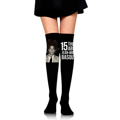 fjhfgdjrt Kniestrümpfe für Frauen Jean-Michel Basquiat Over Knee Thigh Socks Knee-High Sock High Thigh Stockings High Boot Thigh Women Socks for Cosplay,Daily Wear