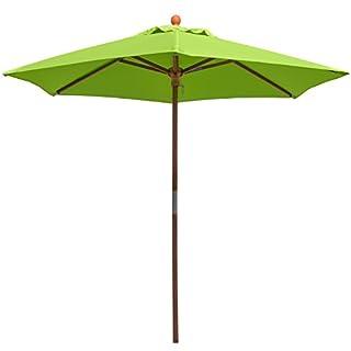 anndora® 21001VSStandardsonnenschirm für Garten oder Balkon, 2,1m, rund, aus Holz, 180g/m², Farbe wählbar 210 cm Apfelgrün