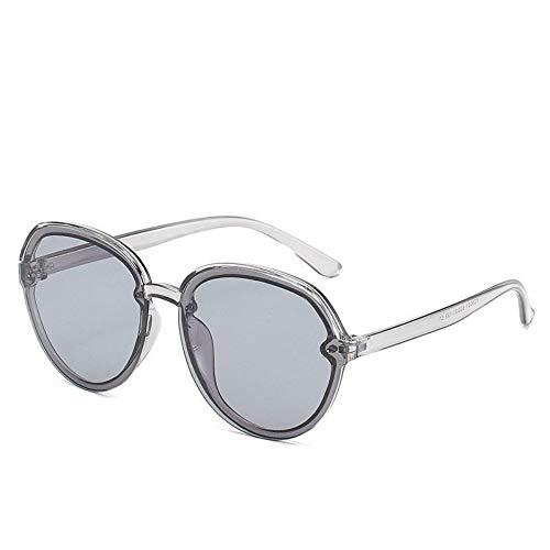 WDDYYBF Sonnenbrillen, Casual Übergroße Aviator Sonnenbrille Für Frauen Männer Aus Magnesiumlegierung Fashion Beach Reise Uv400 Graue Rahmen Graue Linse