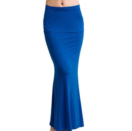 Sólido Largas de Mujer,Honestyi Cadera Casual Vestido Volantes Falda Cintura Alta Mini Mujer Verano Básica Tutú Vendaje Danza Elástica Primavera