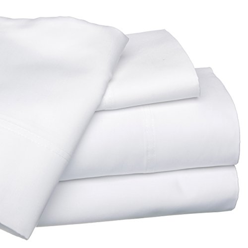 Ägyptische Baumwolle Vorhang (clicktostyle weiß 100% ägyptische Baumwolle Spannbettlaken Single Größe)