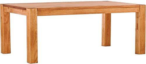 Brasilmöbel® Esstisch Rio Kanto 200x80x78 cm Honig - Holz Tisch Pinie Esszimmertisch Küchentisch - vorgerichtet für Ansteckplatten - ausziehbar