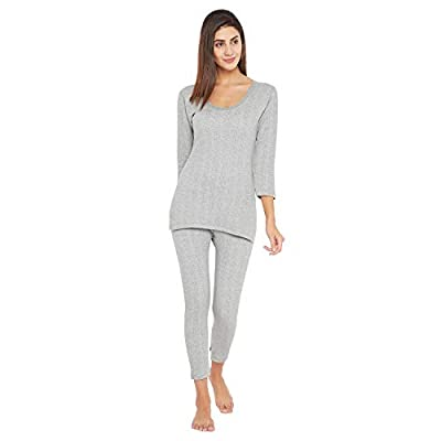VIMAL JONNEY Thermal Light Grey Fullsleeves Top and Lower Set for Women (SETthermal_TopMlng_01-P)