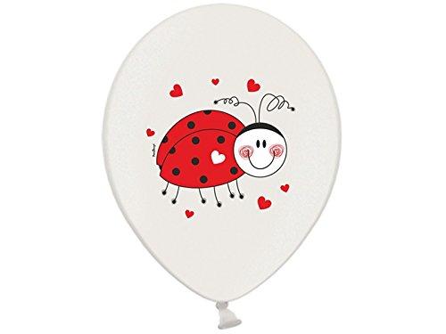 6 Luftballons mit MARIENKÄFER Kindergeburtstag Geburtstag Mottoparty Dekoration (Marienkäfer Kindergeburtstag Dekoration)