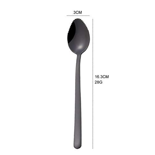 Früchte Schlammlöffel Creative 304 Edelstahl Geschirr Schlammlöffel Creative Square Shovel Spoon Flat -