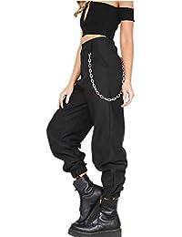 8e58ad8c6eee YOGLY Pantalon Cargo Femme Loose,Pantalons Hip-hop Style Casual Sports  Ajusté Militaire Taille