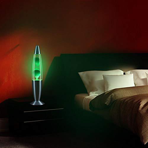 Beatie Lámpara de Lava volcanica,Lámpara Sobremesa Lava Surtida,Lámpara de Cera con Fondo metálico, Luz de Noche Dormitorio lámpara de Noche