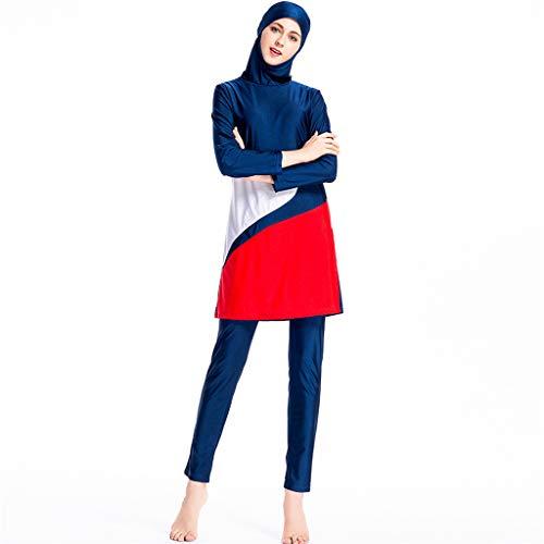 ff66f51206b914 Lazzboy Frauen Muslimischen Badeanzug Mit Kappe Volltonfarbe Beachwear  Bademode Muslim Zurückhaltenden Bescheidenheit Jumpsuit Hijab Full-Cover  Islamischen ...