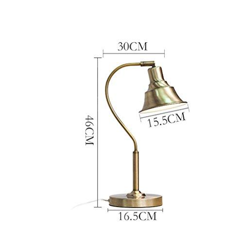 personnalité simple Bureau américain Lamp Eye Study Chambre Chevet étude Creative LED Lampe à incandescence