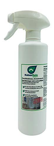 KaiserRein Bio Duschkabinenreiniger mit Lotuseffekt/Abperleffekt 500ml für die einfache Reinigung nach jeder Benutzung ohne nachwischen streifen freies abtrocknen -