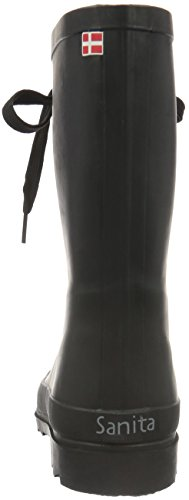Sanita Damen Flace Welly Gummistiefel Schwarz (Black 2)