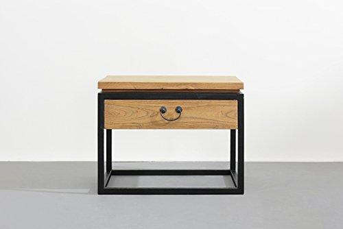 Vintage legno massello comodino in legno massiccio