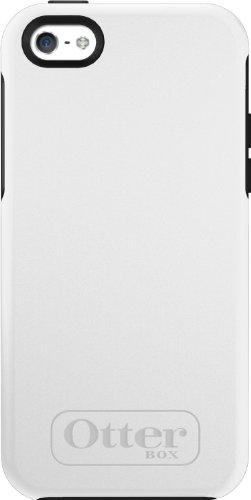 OtterBox Symmetry Series, Schutzhülle für Apple iPhone 5C, Eclipse weiß (5c Iphone Case Otterbox)