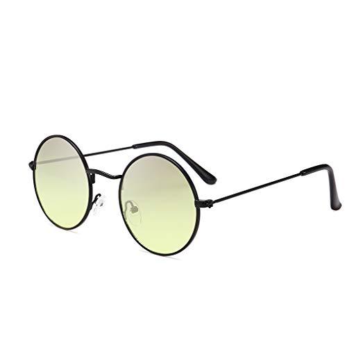 Masterein Männer Frauen Runde Metallrahmen Sonnenbrillen Kreis-Harz-Objektiv UV-Schutz Eyewears Unisex Frauen männlich Sun Glasses