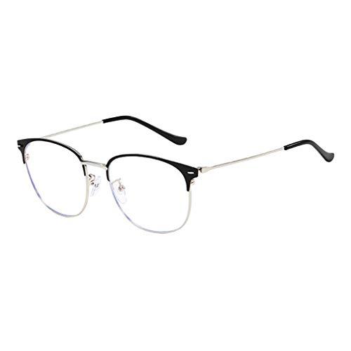 EUCoo GefäLschte GläSer Retro MäNner Und Frauen Flache GläSer MetallgläSer Fake Glasses