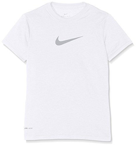 Nike Mädchen Legend Short Sleeve Top Youth T-Shirt, White/Wolf Grey, L