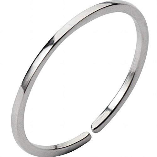 K - Rings S925 Silberring Weiblichen Einfachen Glatten Dünnen Ring Schwanz Ring Gemeinsame Ring Schmuck, S925 Silberring