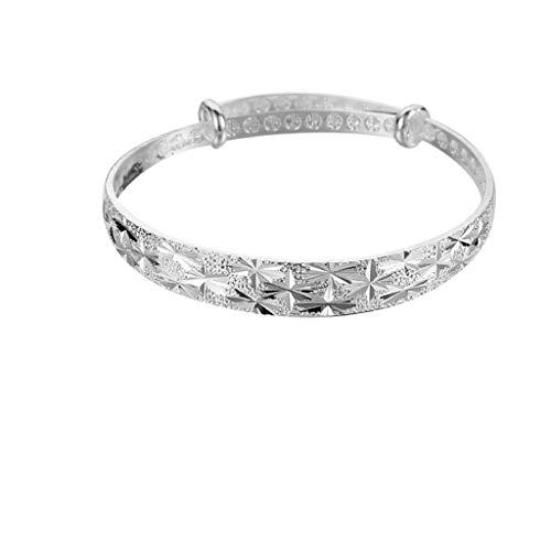 Floweworld Armband Damen Retro Armreifen Mode Neun Transfer Perlen Armband Silber ÜBerzogene Freundin Mom Schmuck ZubehöR Geschenk - Transfer Bermuda