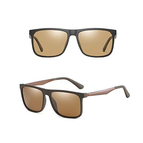 Polarisierte Sonnenbrille Herren Retro Quadrat Mode langlebig