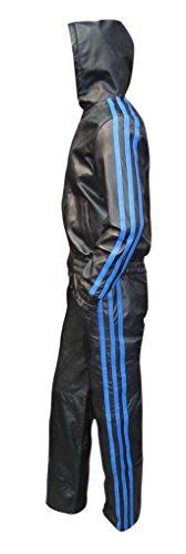 Bespoke Tailored Leather -  Tuta da ginnastica  - Uomo 4 Blue Stripes