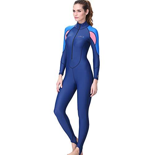 Theshy Combinaison De PlongéE Femme 7Mm Combinaison Pantalon Conservateur Manches Longues Femmes Snorkeling Surf PlongéE sous-Marine Maillot De Bain Une PièCe Complet du Corps