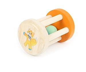 Small Foot Baby 10657 - Peluche para bebé (Madera, con el Texto Lex y Perlas en el Interior, fácil de sostener Gracias a Las Varillas de Madera)