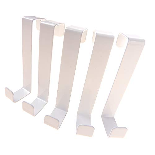 SOBRE LOS GANCHOS DE LA PUERTA 10 piezas por 4smile - Hecho en Alemania | GANCHOS reversibles para puertas y gabinetes de armarios | Perchas y ganchos de las puertas | Blanco