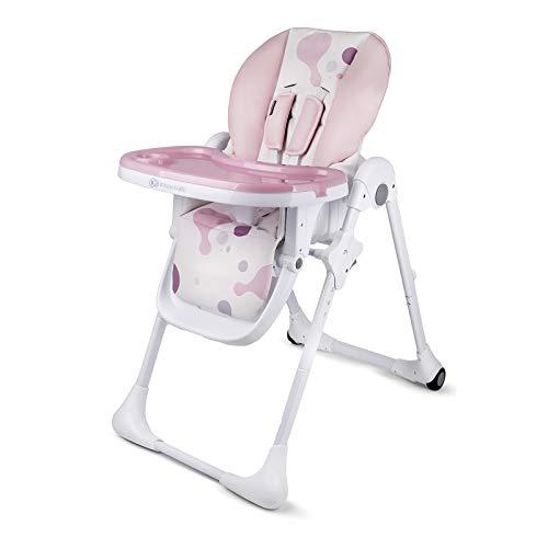 Kinderkraft KKKYUMMPNK0000 Babyhochstuhl Kinderhochstuhl Hochstuhl mit Klappfunktion, rosa