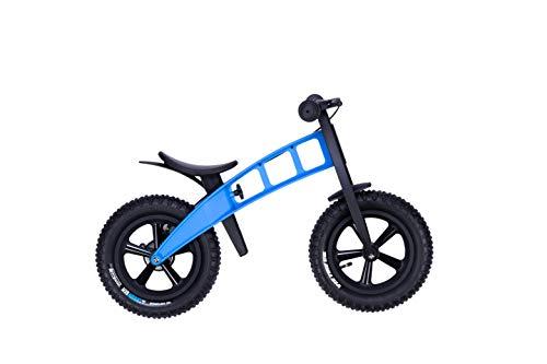 FirstBike Laufrad mit Handbremse Fat Edition Cross Light Blue für Kinder ab 2 - 5 Jahre Hellblau mit Reifen für unbefestigtes Gelände