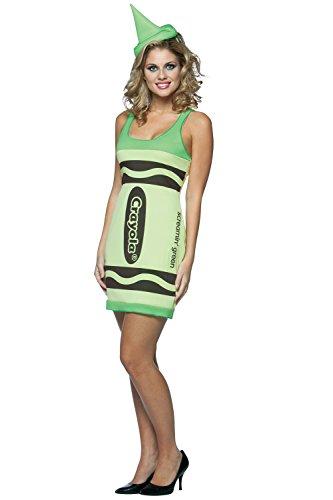Damen Crayola Buntstifte Marker Filzstift Hut Lust Tank Kleid Kostüm 451141 (Crayola Crayon Kostüm Für Erwachsene)