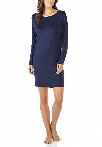 Mey Night Selina Damen Nachthemden Blau 44