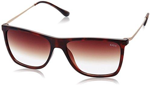 IDEE Gradient Square Men's Sunglasses - (IDS1934C3SG|56|Brown Half Gradient lens) image