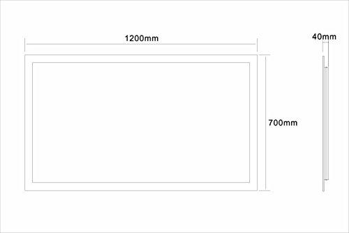 Badspiegel LED Spiegel GS084N mit Beleuchtung durch satinierte Lichtflächen Badezimmerspiegel (120 x 70 cm, kaltweiß) -