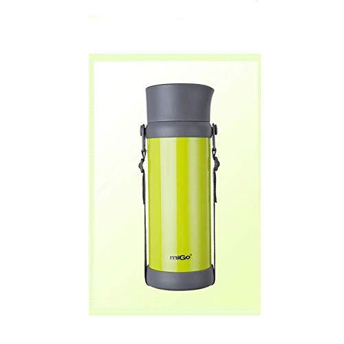 Isolationstopf Haushaltsthermoskanne Outdoor Edelstahl Reise Flasche Auto Thermoskanne Große Kapazität Wasserkocher (Farbe : Metallic)