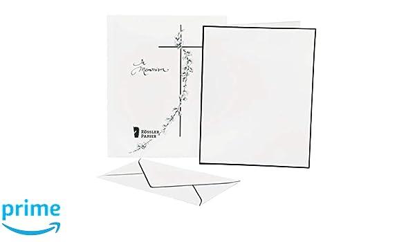 BRUNNEN 1051081 Trauerpost Briefpapier