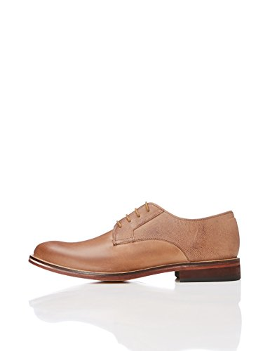 FIND Men's Austen Derby Shoes, Brown (Chocolate), 9 UK