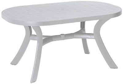 BEST 18511500 Tisch Kansas oval 145 x 95 cm, weiß von BEST bei Gartenmöbel von Du und Dein Garten